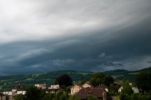 Gewitter über dem Längenberg bei Bern, 07.06.2012