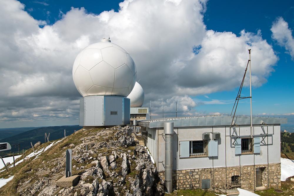 Radaranlage La Dôle (Quelle: fotometeo.ch, 27.05.2013)