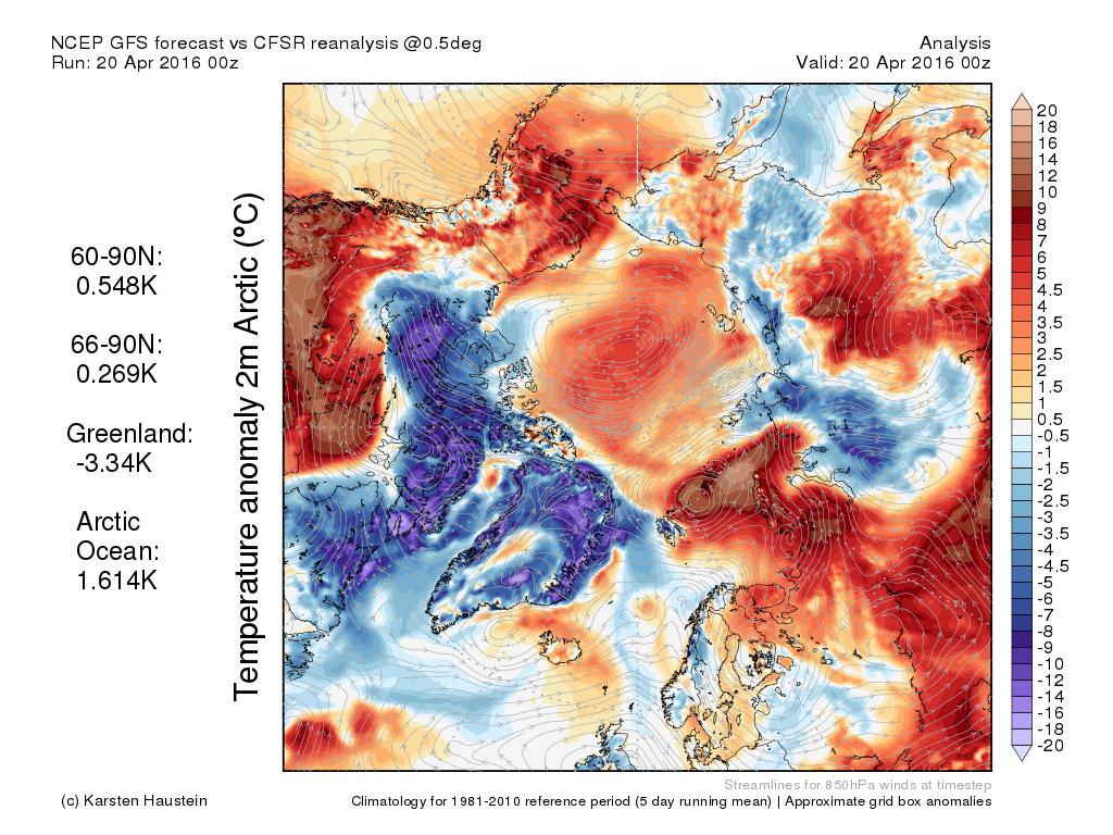 Abweichung der aktuellen Lufttemperatur 2 m über Grund zur Klimanorm. Quelle: karstenhaustein.com